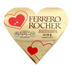 3 Ferrero Rocher Empaque Corazón